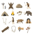 Stone Age Icons vector image vector image