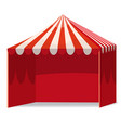 stripped promotional outdoor event trade show pop vector image