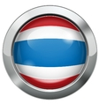 Thailand flag metal button vector image vector image