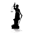 Themis Goddess of Justice vector image vector image