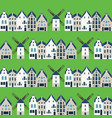 Traditional dutch houses and mills - seamless