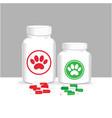 veterinary care animal medicine concept poster vector image