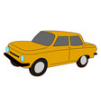 yellow car on white background vector image vector image