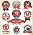 Anniversary sign collection retro design vector image