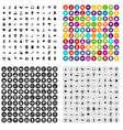 100 environmental protection icons set vector image