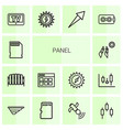 14 panel icons vector image vector image