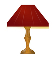 a red table lamp vector image vector image