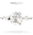 abstract elements geometric triangles gold silver vector image vector image