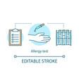 allergy test concept icon allergic diseases
