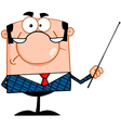 Angry Business Manager With Pointer vector image vector image