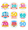 anniversary celebration banners ribbons vector image