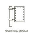 banner on pillar advertising bracket isolated vector image