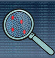 bugs in the system code under the magnifying glass vector image