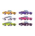 cabriolet car set in bright colors vector image