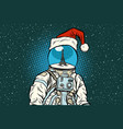 christmas astronaut with dreams of paris vector image vector image