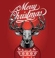 christmas deer wearing sweater vector image