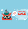 christmas sale background discount offers vector image
