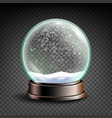 christmas snowglobe sphere ball crystal vector image