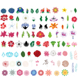 collection of flowers vector image vector image