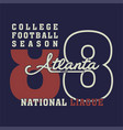 college football season vector image vector image