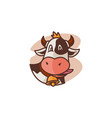 cow face mascot vector image vector image