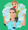 Dad Son Couple Cartoon vector image