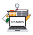 digital marketing website internet design vector image