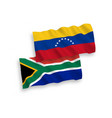 flags venezuela and republic south africa on vector image