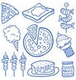 food set various of doodles vector image vector image