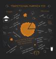 for restauran concepts bunners posters pumpkin vector image