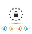 gdpr - general data protection regulation icon vector image vector image