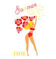 girl in bikini for banner vector image vector image