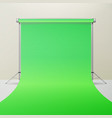 green hromakey realistic 3d template mock vector image vector image