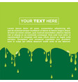 halloween background template with green slime vector image