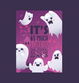 halloween night ghosts invitation vector image vector image