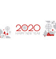 happy new 2020 year christmas flyer with winter vector image vector image