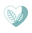 heart with leaves icon vector image vector image