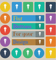 Ice Cream icon sign Set of twenty colored flat vector image