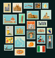 italy travel stamps vector image vector image