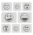 monochrome icons smiles-balls vector image vector image