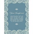 Ornamental frame with roses vector image vector image