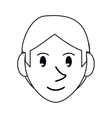 pictogram young face guy smile vector image
