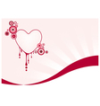 Pink graphic heart vector image vector image