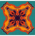 Red and yellow mandala ornament over symmetry vector image vector image