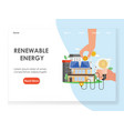 renewable energy website landing page vector image