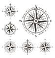 Retro nautical compass vintage rose wind