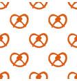 seamless background bavarian pretzel vector image vector image