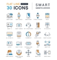 Set Flat Line Icons Smart Device vector image vector image