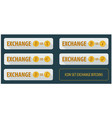 set rectangular horizontal buttons exchange vector image