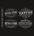 set vintage tattoo emblems logos badges vector image